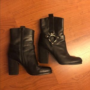 Black Leather Boots by Guess